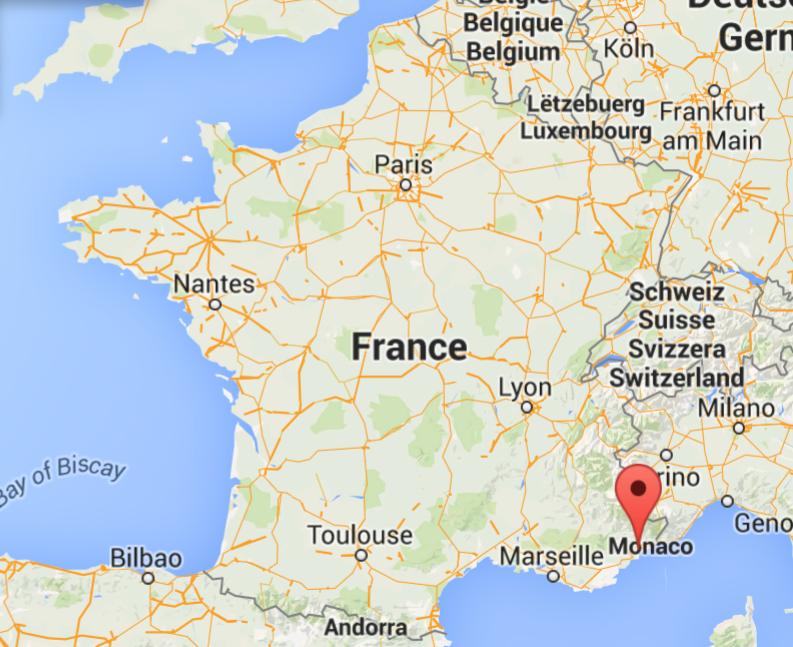Localisation-Saint Paul de Vence